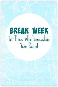 Break Week Via My Life as a Rinnagade
