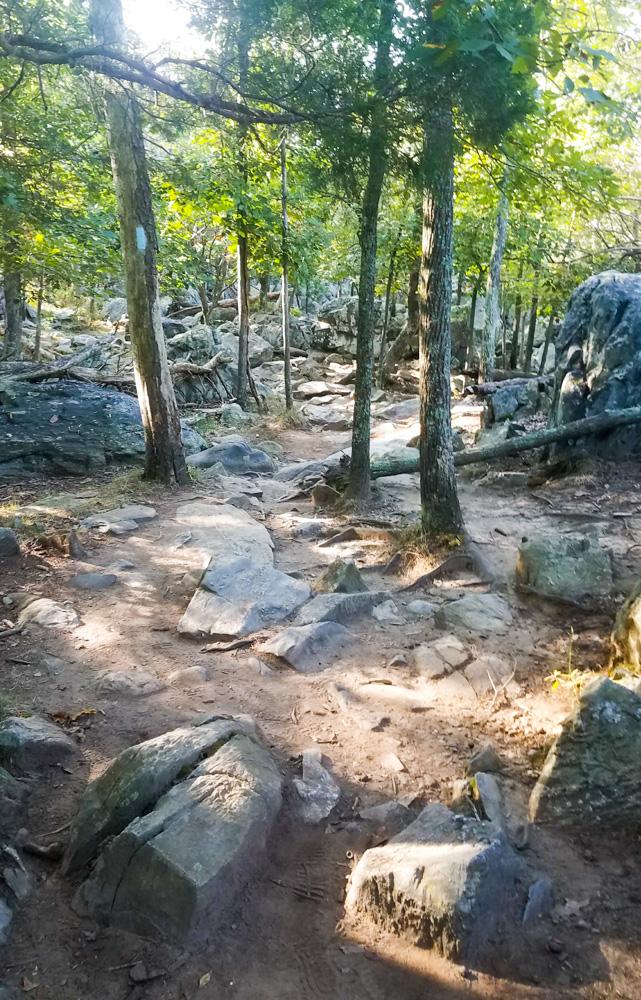 Billy Goat Trail A, Rock scrambling