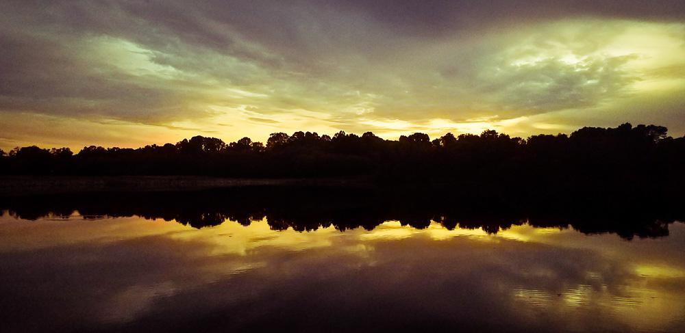 Sunset at Centennial Lake