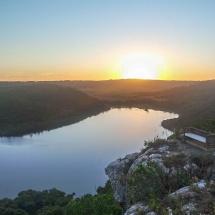 Plett sunset lake