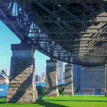 opera house under harbour bridge