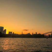 opera house&harbour bridge sunset