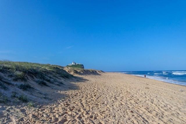 Newcastle Nobbys Beach lighthouse