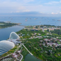 Marina Bay Sands Skypark ocean view