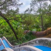 abandoned waterpark slide