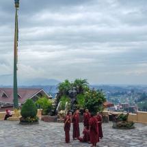 Kopan-monks ain front of great hall
