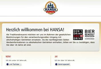 Startseite Hansa Homepage