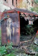 Ein Graffiti in Beelitz-Heilstätten