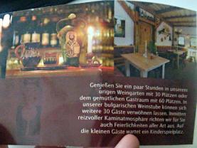 Flyer vom Balkan Restaurant in Beelitz