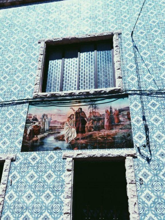 panted tiles in Portuguese beach resort - Figuiera da foz
