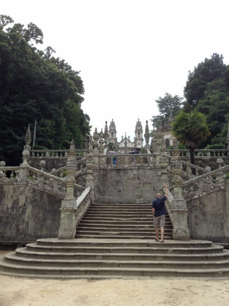 steps leading up to the cathedral in Lamego, the Duoro Valley, Portugal