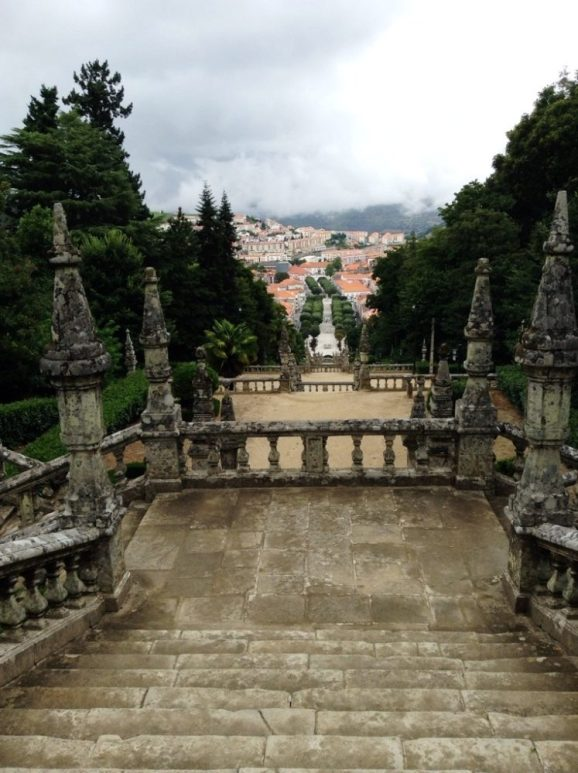 the best view of Lamego in the Douro from the top of the cathedral