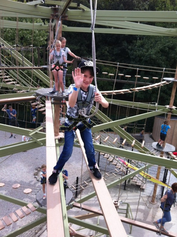 The high ropes at Holmepierre Pont country park are one of the fun things to do with boys in nottingham - what to do with boys in Nottingham