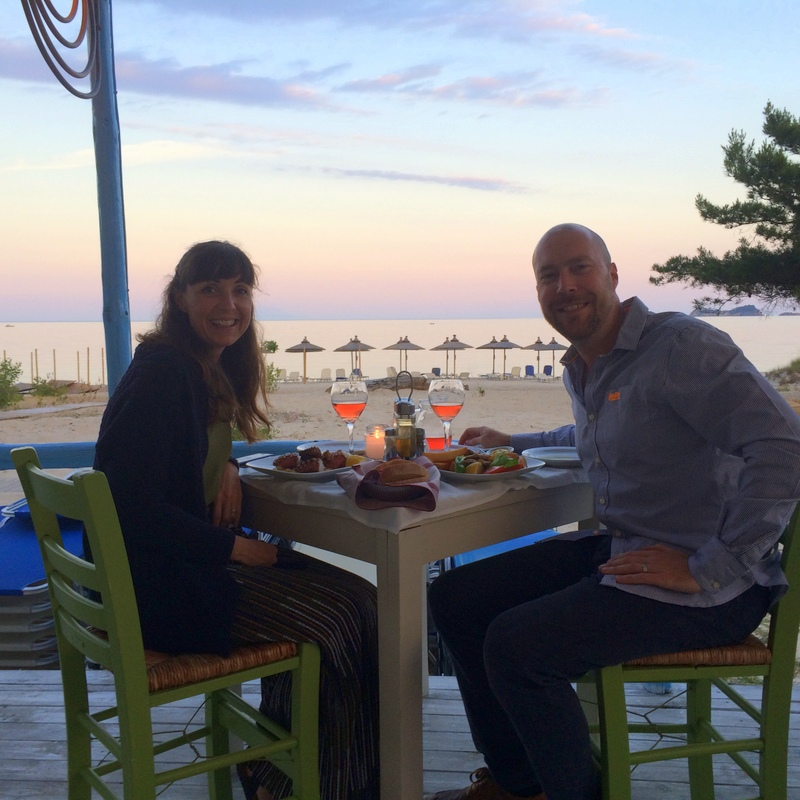 There are some amazing restaurants on Golden Beach on Thassos, service fresh fish and squid with the best views you could ask for.