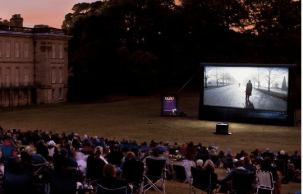 outdoor cinema screen, Wollaton Park - Nottingham