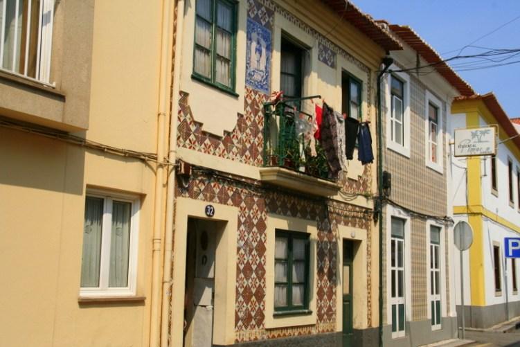 Beautiful tiled houses of Aveiro, Portugal