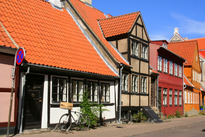 Houses at Helsingor, North Sealand, Denmark, this has to be one of the prettiest towns in Denmark