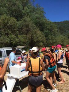 break time on the mondego river kayaking trip