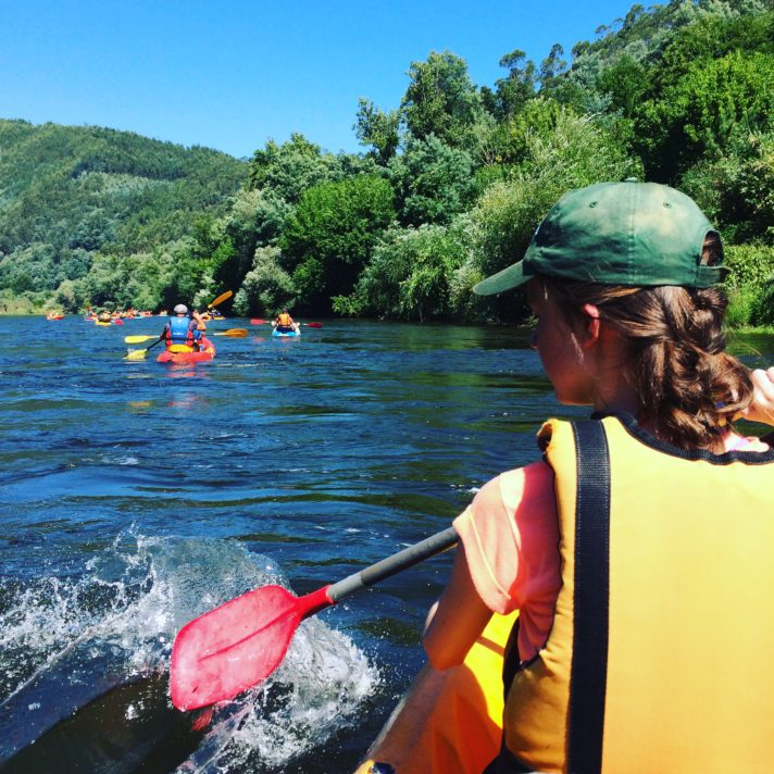 Kayaking on The Mondego River in Portugal