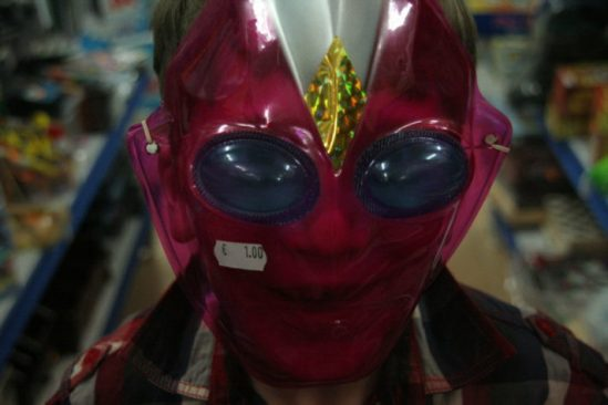Boy in a mask