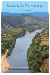 Kayaking on the mondego river portugal