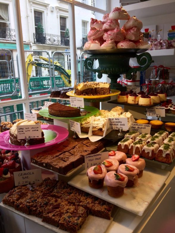 The cake selection at the wonderful Ottolenghi deli in London