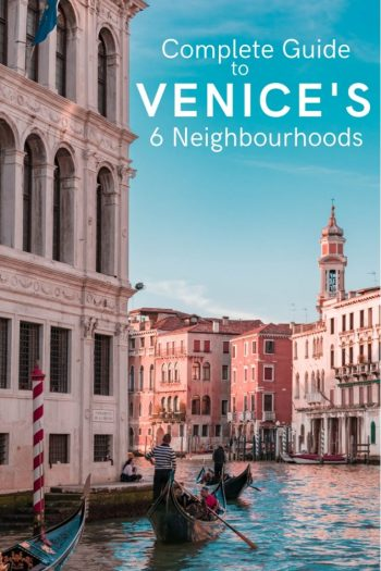 Venice is made up of 6 districts so how do you decide which is the right one for you? Where should you book your accommodation? Which areas should you visit? Which district is best? Let me help you decipher Venice's 6 neighbourhoods so you can make the best of your stay. #Venice #Italy #romanticplaces #europe