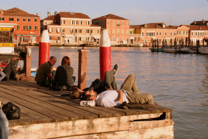 catching the last rays of sun on the Venetian island of Murano
