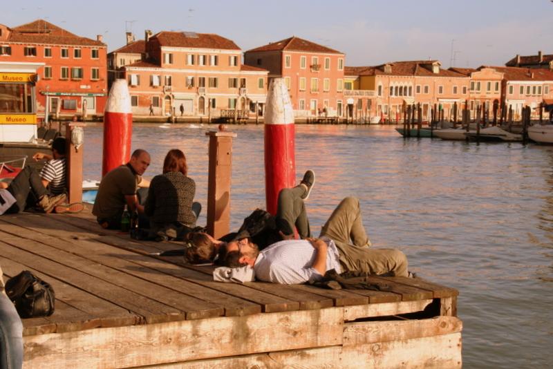 catching the last rays of sun on the Venetian island of Murano