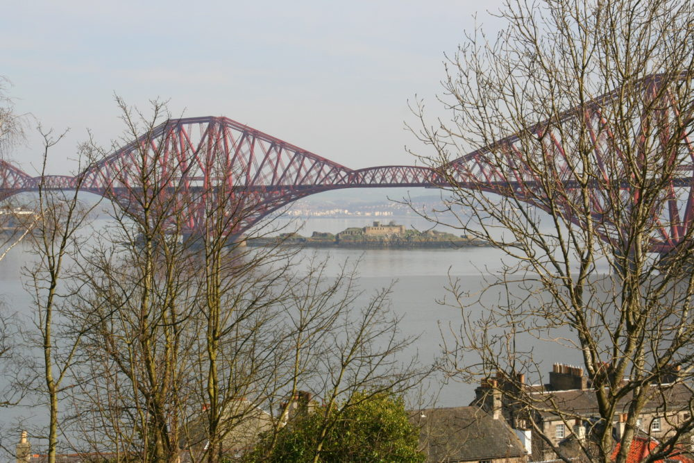Inchcolme Island, under the Forth Rail Bridge - one of the Islands, along with Inchgarvie, that you pass when you take a boat trip on the Maid of the Forth
