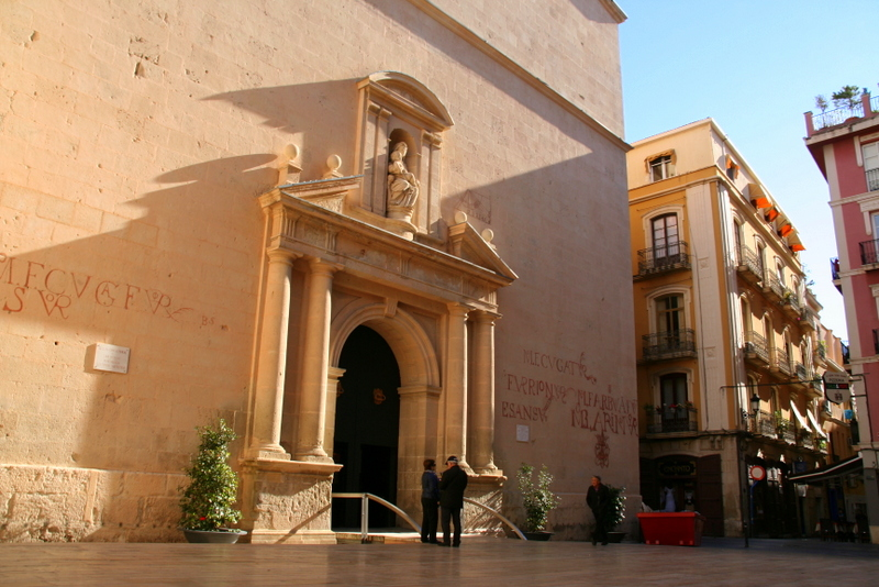 The writing on the wall at one of Alicantes greatest churches