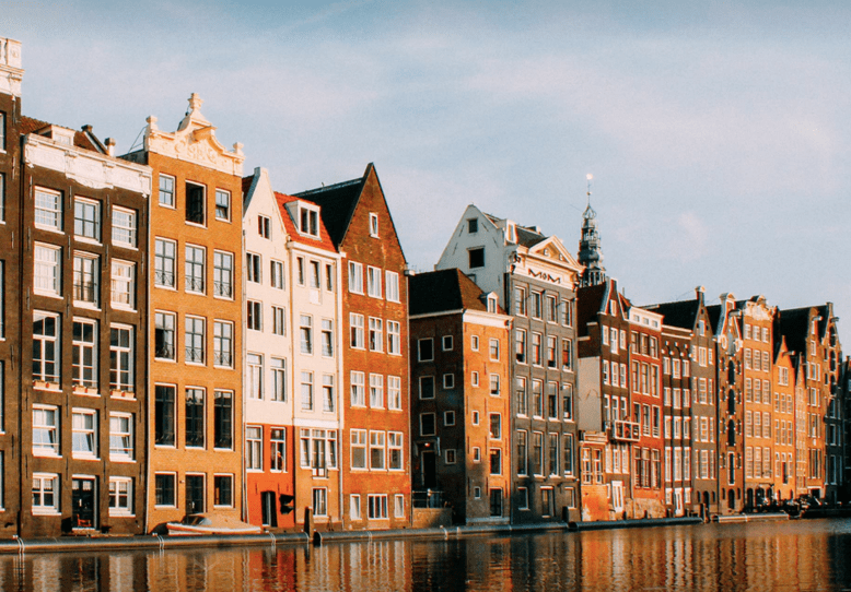 Amsterdam architecture on the canals