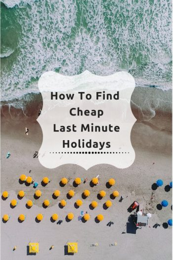 'How to book last minute holidays like a pro'. Find out where you can find the best holiday deals and how to save £1000's of...