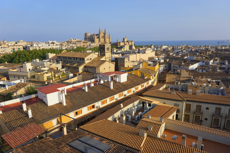 Some of the best views of Palma are the rooftop views of the cathedral La Seu seen from some of the rooftop bars in the city. Enjoy a drink with a view