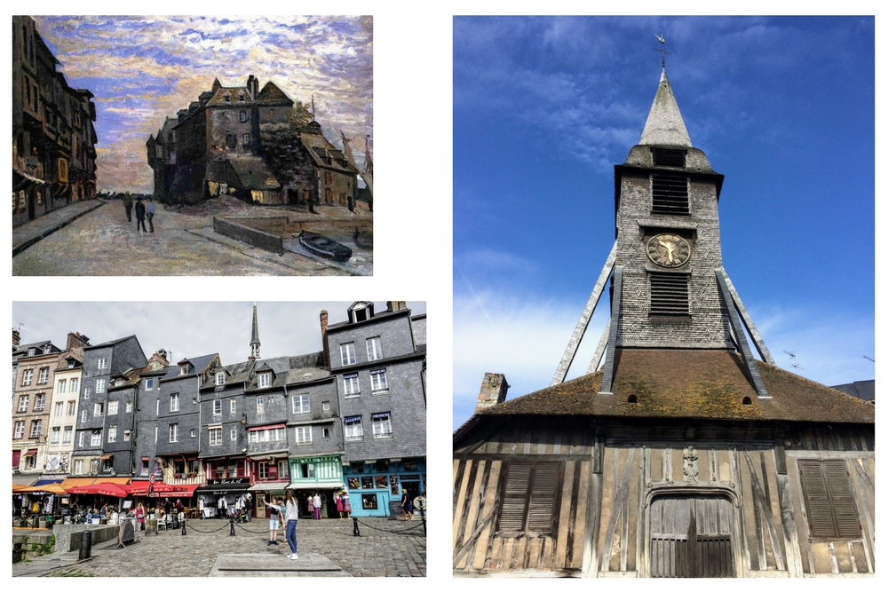 There are some important facts about the Honfleur church here in Normandy, interesting things about how it was built and some random stories about a famous artist who was from here.