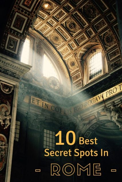 There is a secret Rome just waiting to be discovered - let me share my top 10 hidden gems including where to see the best city views and eat the best icecream in Rome.