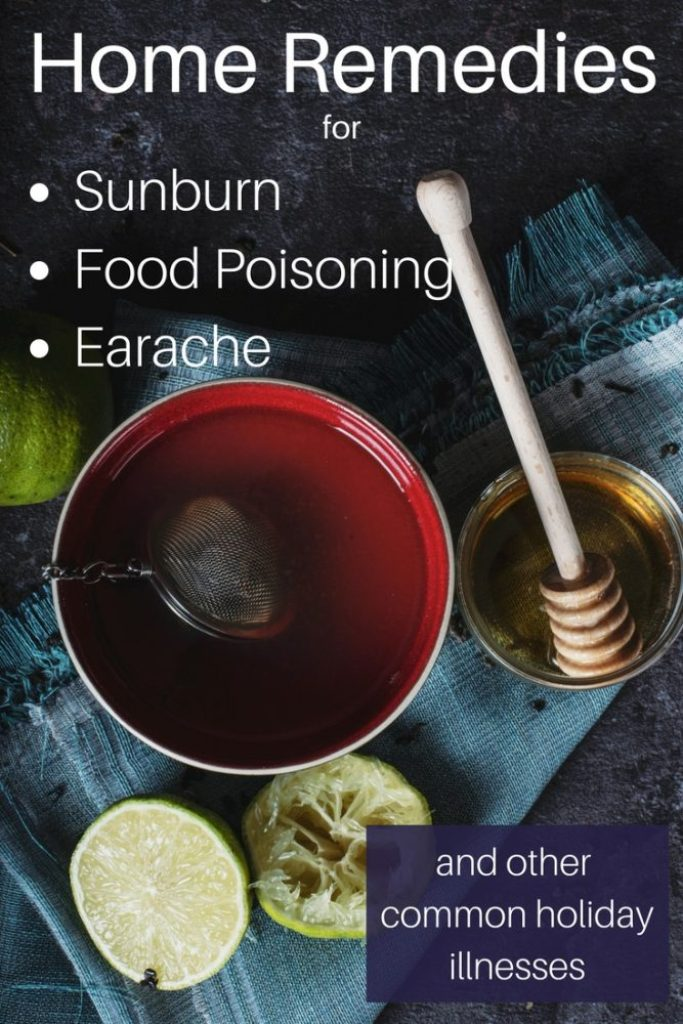 Home Remedies for the travelling family. Food Poisoning, Sunburn and Earache are some of the ways we may find ourselves sick on holiday but you can get your hands on some very effective natural remedies wherever you are in the world. Holiday Sickness doesn't have to ruin your vacation!