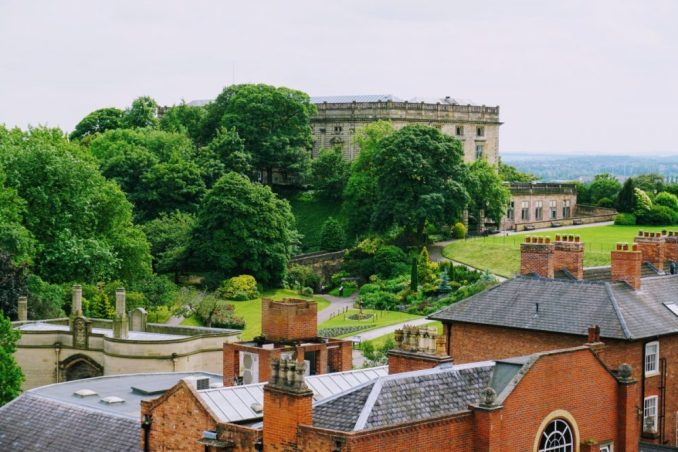 To get the best views of Nottingham castle you can go to the top floor of the NCP carpark, all part of a self guided free walking tour