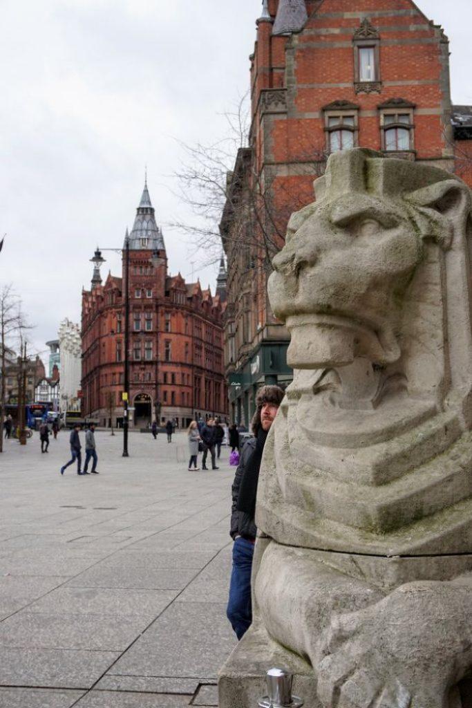 Left Lion Nottingham land mark