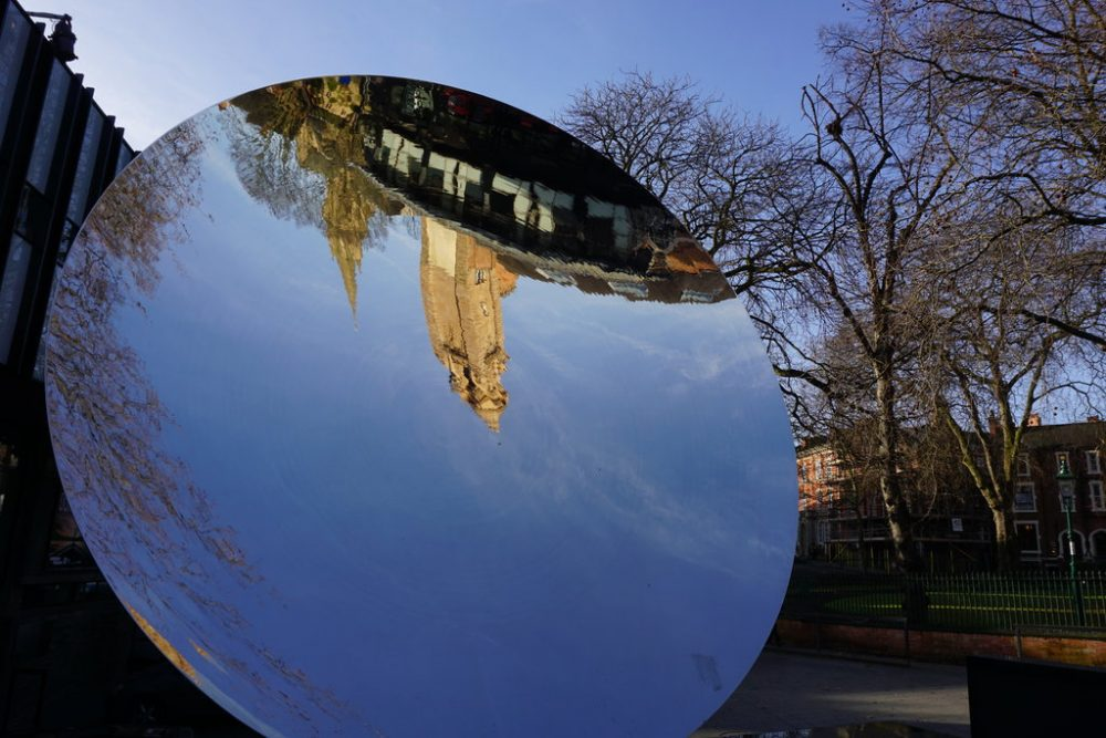 sky mirror nottingham - free walking tour