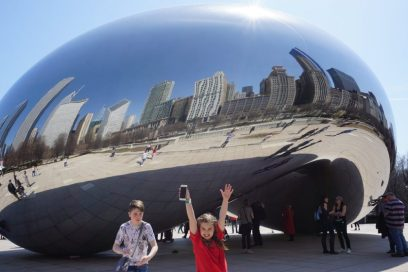 The bean, or cloudgate, is one of the top things to do in Chicago with kids