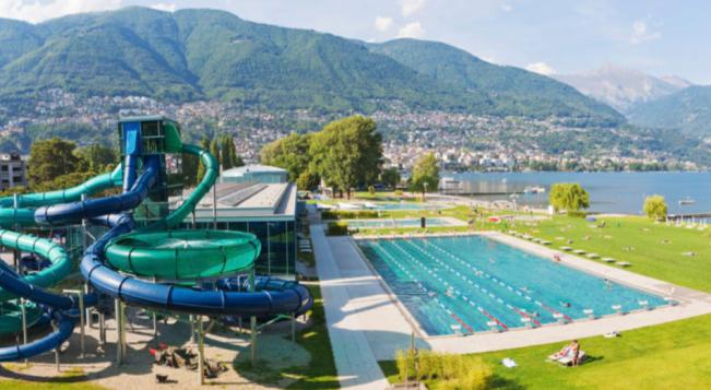 The Lido at Locarno, Switzerland - Lake Maggiore