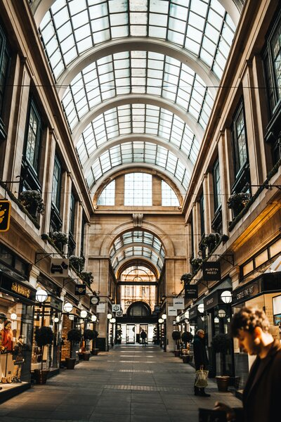Nottingham shopping arcade - The Exchange. Things to do in Nottingham