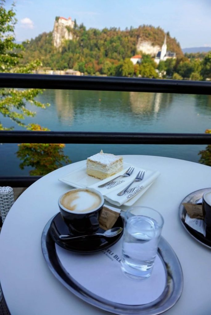 Lake Bled tips ; One thing you must do when you're at Lake Bled is try their famous Bled Cake - great local food at The Park Hotel where it was invented