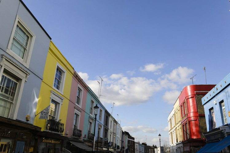 Notting Hill has the best colourful houses in London and a high street full of hidden gems to explore