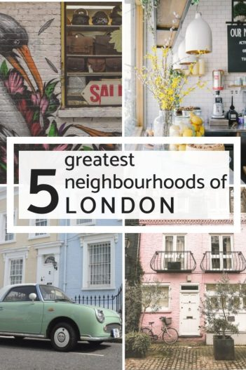 London is more than Big Ben and Buckingham Palace, it's a city of amazing neighbourhoods and districts with so much to see, do and explore. So once you have seen the main sights on London, which area's are worth your time? Check out this city guide to the coolest neighbourhoods, the prettiest streets and the best area's for markets and food. #london #nottinghill #camden #greenwich #shoreditch