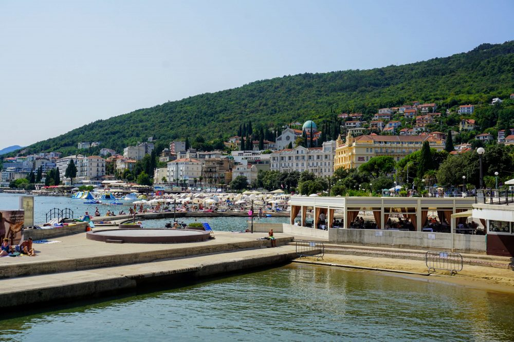 Opatija has some charming lido's for public swimming next to the best beaches. Istria, Croatia