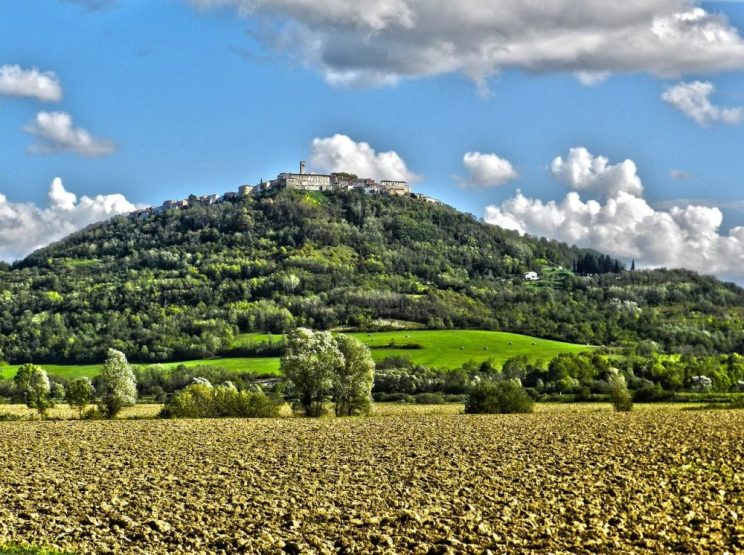 Motovun, a hilltop town in Istria, Croatia