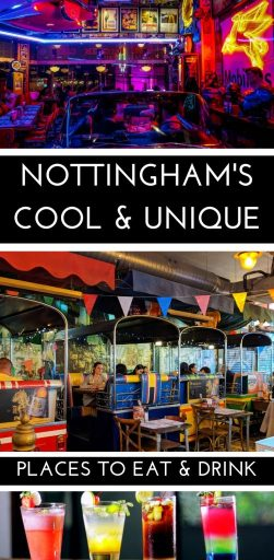 The great foodie city of Nottingham has some fantastically cool places to eat and drink - from the quaint to the queer we have all the best restaurants and bars you should visit when you are next in Nottingham, England. #Nottingham #EastMidlands #England