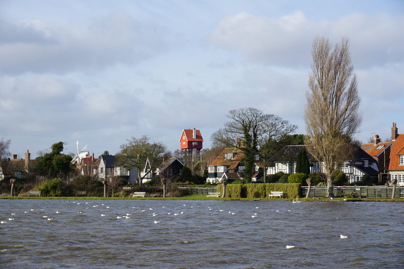 Thorpeness in Suffolk is home to the famous house in the clouds water tower. one of the prettiest villages in Suffolk